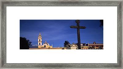 Low Angle View Of A Church, Cholula Framed Print