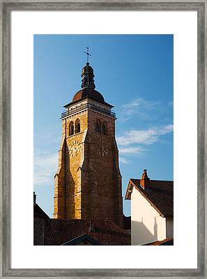 Low Angle View Of A Church, Eglise Framed Print by Panoramic Images