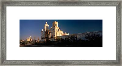 Low Angle View Of A Church, Mission San Framed Print