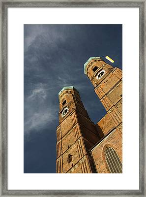 Low Angle View Of A Church, Munich Framed Print by Panoramic Images