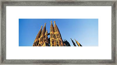 Low Angle View Of A Church, Sagrada Framed Print by Panoramic Images