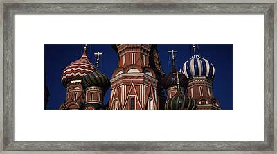 Low Angle View Of A Church, St. Basils Framed Print