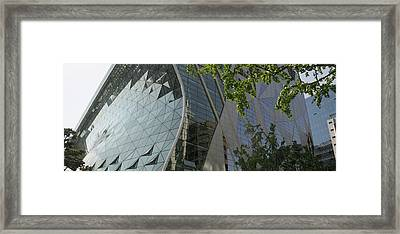 Low Angle View Of A City Hall, Seoul Framed Print