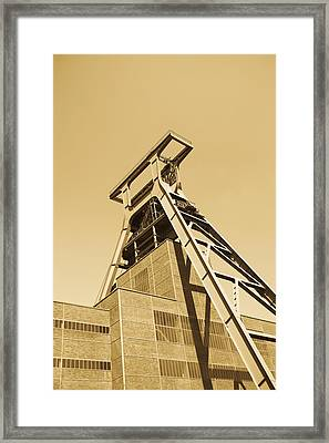Low Angle View Of A Coal Mine Framed Print by Panoramic Images