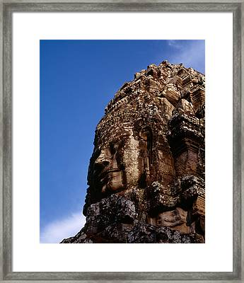 Low Angle View Of A Face Carving Framed Print by Panoramic Images