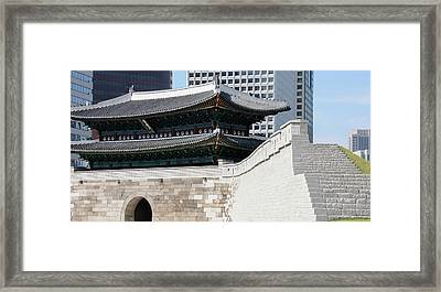 Low Angle View Of A Gate, Sungnyemun Framed Print by Panoramic Images