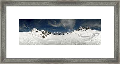 Low Angle View Of A Glacier, Aletsch Framed Print