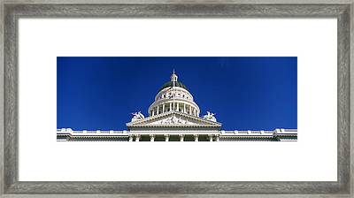 Low Angle View Of A Government Framed Print