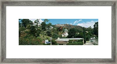 Low Angle View Of A Hill, Hollywood Framed Print by Panoramic Images