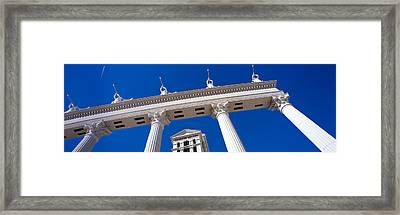Low Angle View Of A Hotel, Caesars Framed Print