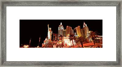 Low Angle View Of A Hotel, New York New Framed Print