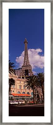Low Angle View Of A Hotel, Replica Framed Print