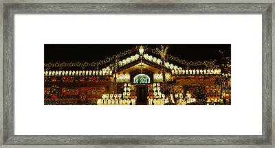 Low Angle View Of A House Decorated Framed Print