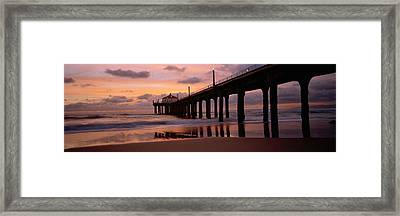 Low Angle View Of A Hut On A Pier Framed Print by Panoramic Images