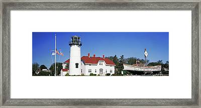 Low Angle View Of A Lighthouse, Chatham Framed Print