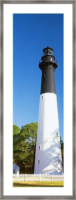 Low Angle View Of A Lighthouse, Hunting Framed Print