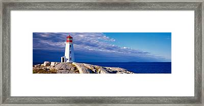 Low Angle View Of A Lighthouse, Peggys Framed Print