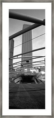 Low Angle View Of A Metal Structure Framed Print