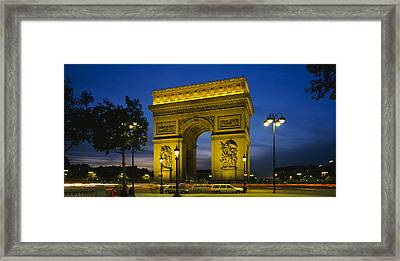 Low Angle View Of A Monument, Arc De Framed Print