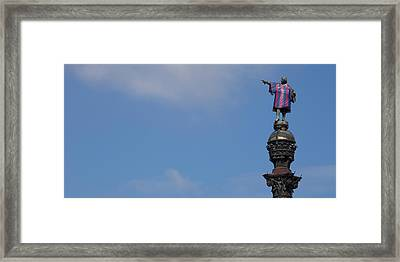 Low Angle View Of A Monument, Columbus Framed Print by Panoramic Images