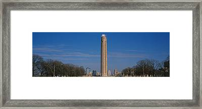 Low Angle View Of A Monument In A Park Framed Print by Panoramic Images