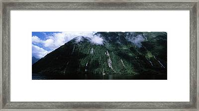 Low Angle View Of A Mountain, Milford Framed Print by Panoramic Images