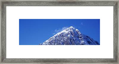 Low Angle View Of A Mountain Framed Print