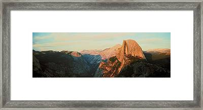 Low Angle View Of A Mountain Peak, Half Framed Print