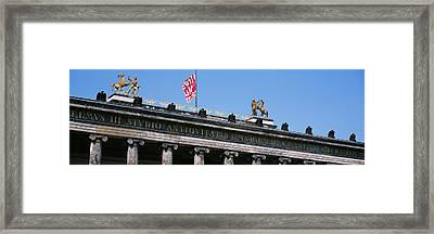 Low Angle View Of A Museum, Altes Framed Print