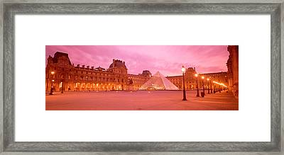 Low Angle View Of A Museum, Musee Du Framed Print