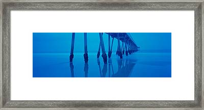 Low Angle View Of A Pier, Hermosa Beach Framed Print by Panoramic Images