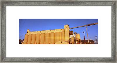 Low Angle View Of A Rice Drying Unit Framed Print by Panoramic Images