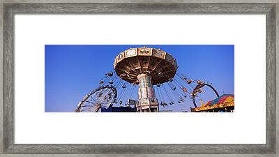 Low Angle View Of A Ride At An Framed Print by Panoramic Images