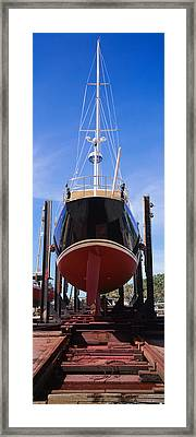 Low Angle View Of A Sailing Ship Framed Print by Panoramic Images