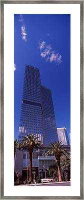 Low Angle View Of A Skyscraper Framed Print