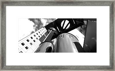 Low Angle View Of A Skyscraper, Umeda Framed Print