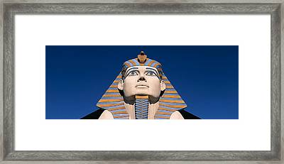 Low Angle View Of A Sphinx, Luxor Hotel Framed Print