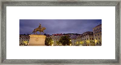 Low Angle View Of A Statue, Castelo De Framed Print by Panoramic Images