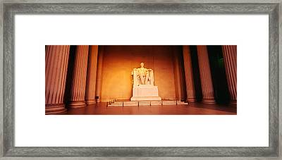 Low Angle View Of A Statue Of Abraham Framed Print by Panoramic Images