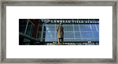 Low Angle View Of A Statue Framed Print by Panoramic Images