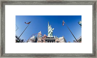 Low Angle View Of A Statue, Replica Framed Print by Panoramic Images