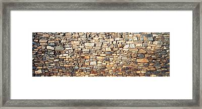 Low Angle View Of A Stone Wall, New Framed Print