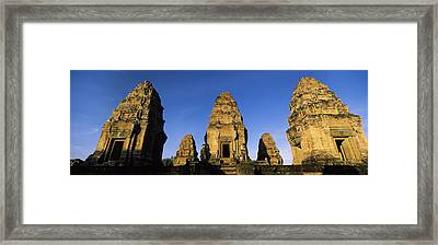 Low Angle View Of A Temple, Pre Rup Framed Print by Panoramic Images