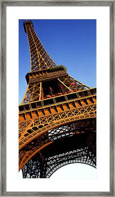 Low Angle View Of A Tower, Eiffel Framed Print