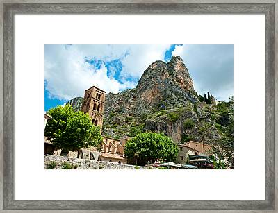 Low Angle View Of A Village Framed Print by Panoramic Images