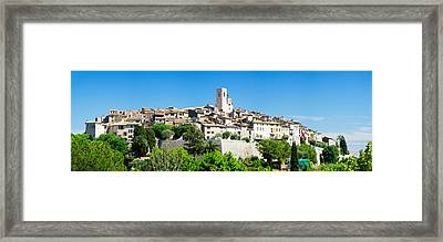 Low Angle View Of A Walled City, Saint Framed Print