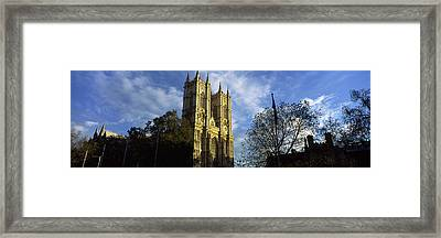 Low Angle View Of An Abbey, Westminster Framed Print by Panoramic Images