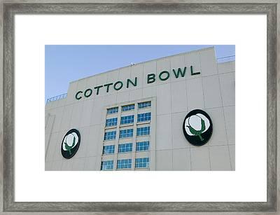 Low Angle View Of An American Football Framed Print by Panoramic Images