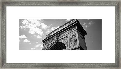 Low Angle View Of An Arch, Washington Framed Print