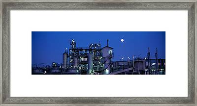 Low Angle View Of An Oil Refinery Framed Print by Panoramic Images